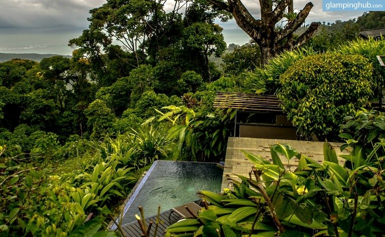 Tree house cabin with ocean view in costa rica for Tree house for sale costa rica