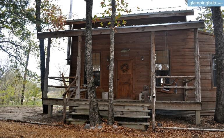 Log Cabin Nestled In Woods On Lake Texoma Texas