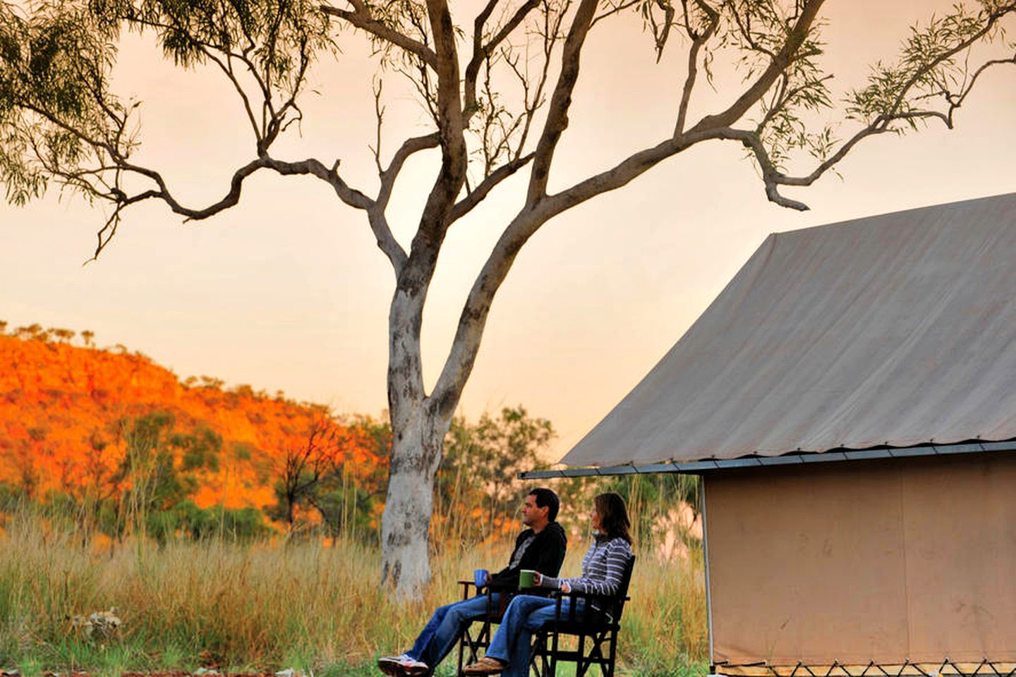 This Imintji campground is ideal for glamping in Western Australia