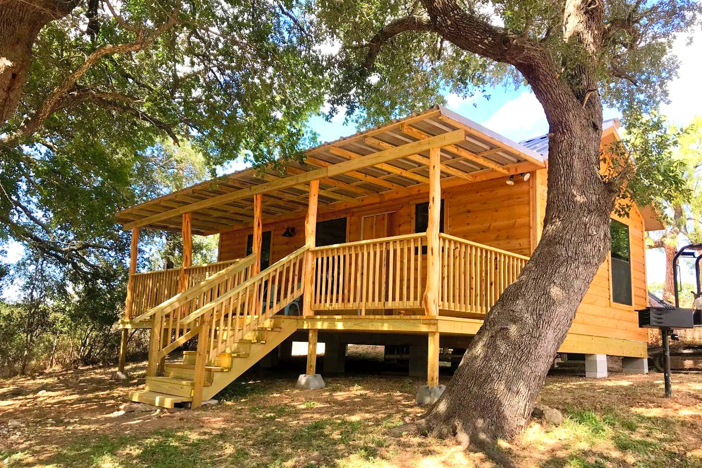 Texas Hill Country cabin rental that's perfect for weekend getaways from Austin