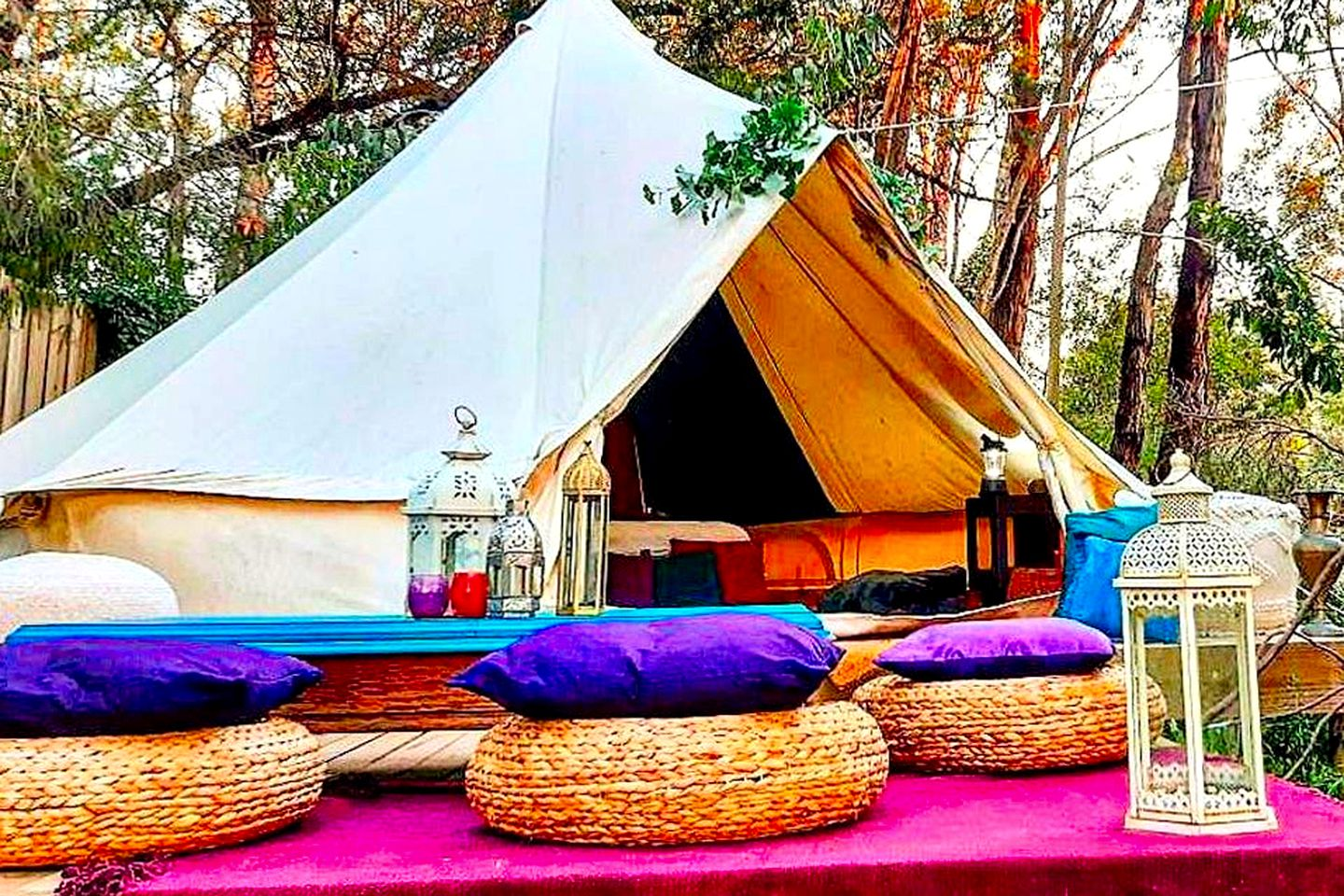 Gorgeous bell tent rental for a holiday spent glamping in Adelaide