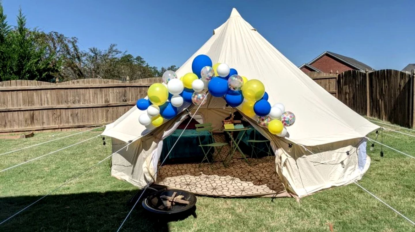 Bell tent rental for pop-up glamping in the Southeast