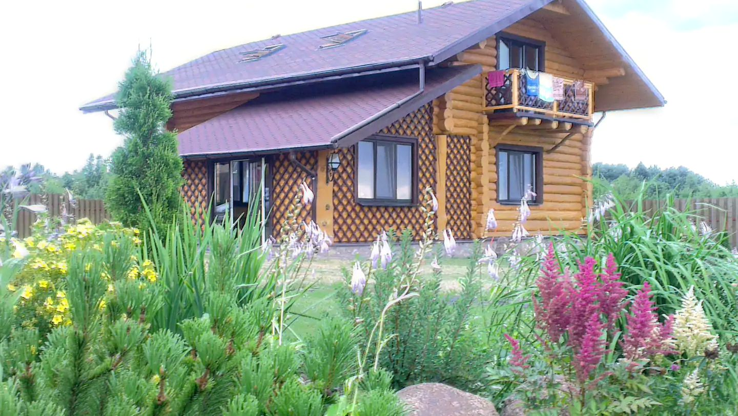 Log cabin rental for glamping in Belarus