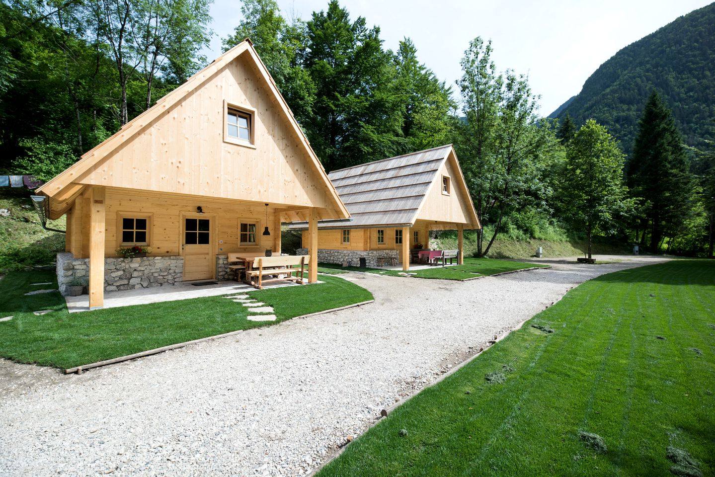 This Slovenia cabin is perfect for an adventurous retreat in nature.