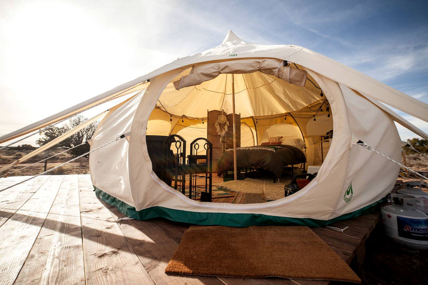 Belle Yurt rental for the best glamping in Arizona.