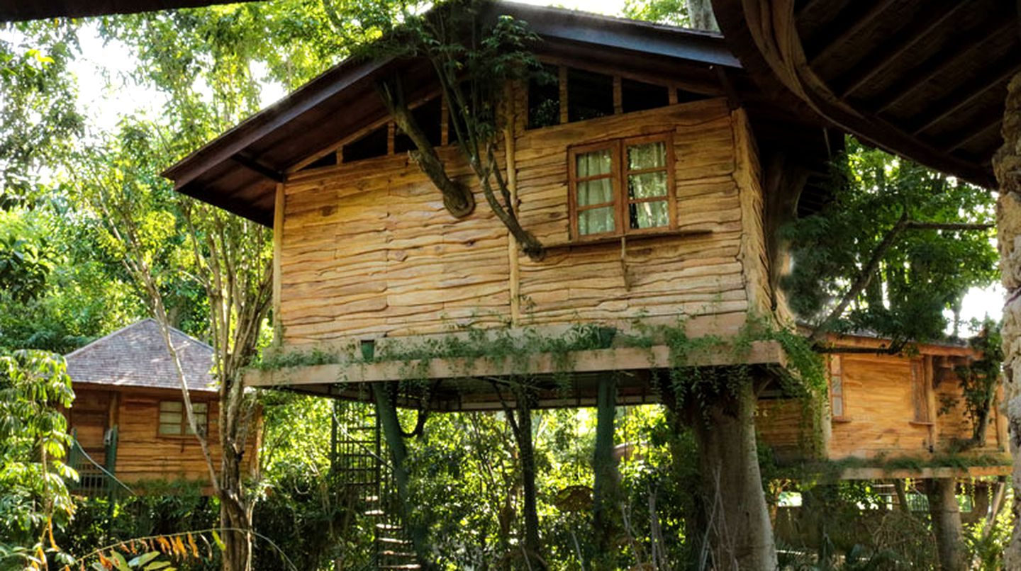 This tree house is perfect for glamping in Bali