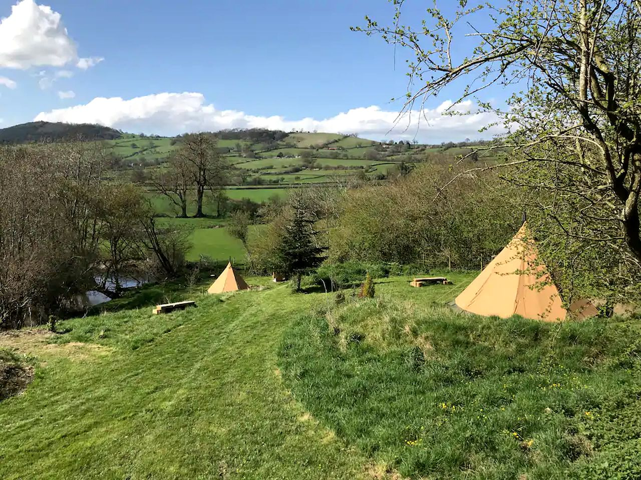 Tipi rental for glamping in Wales
