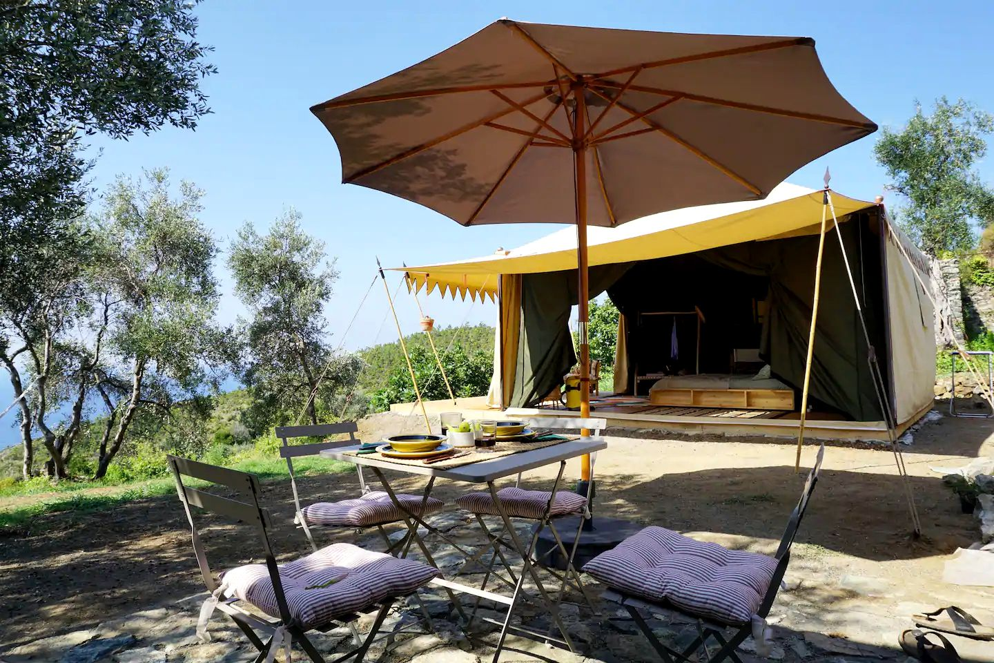 This incredible Levanto accommodation is ideal for glamping in Italy