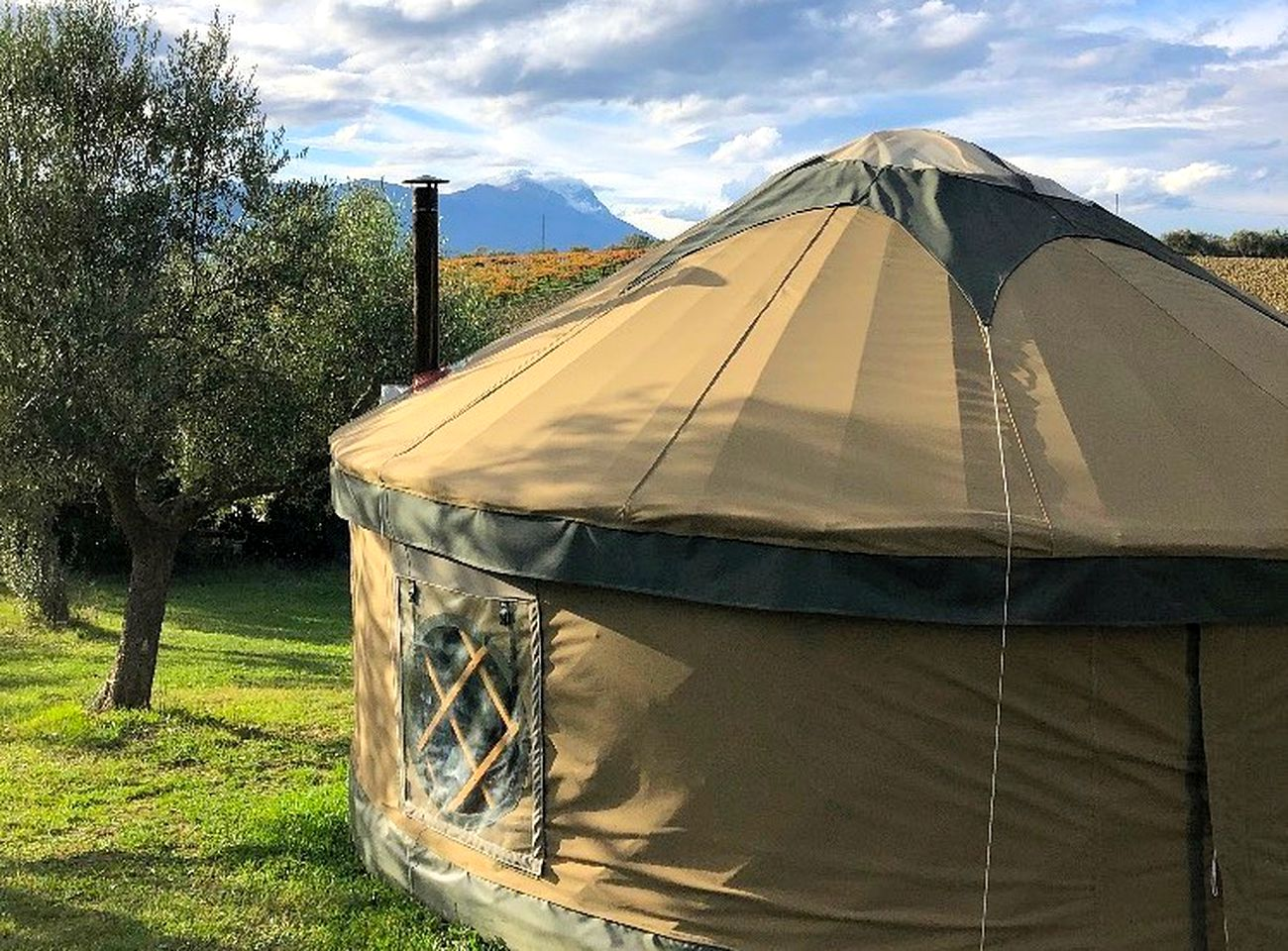 Luxury yurt rental that's perfect for glamping in Italy
