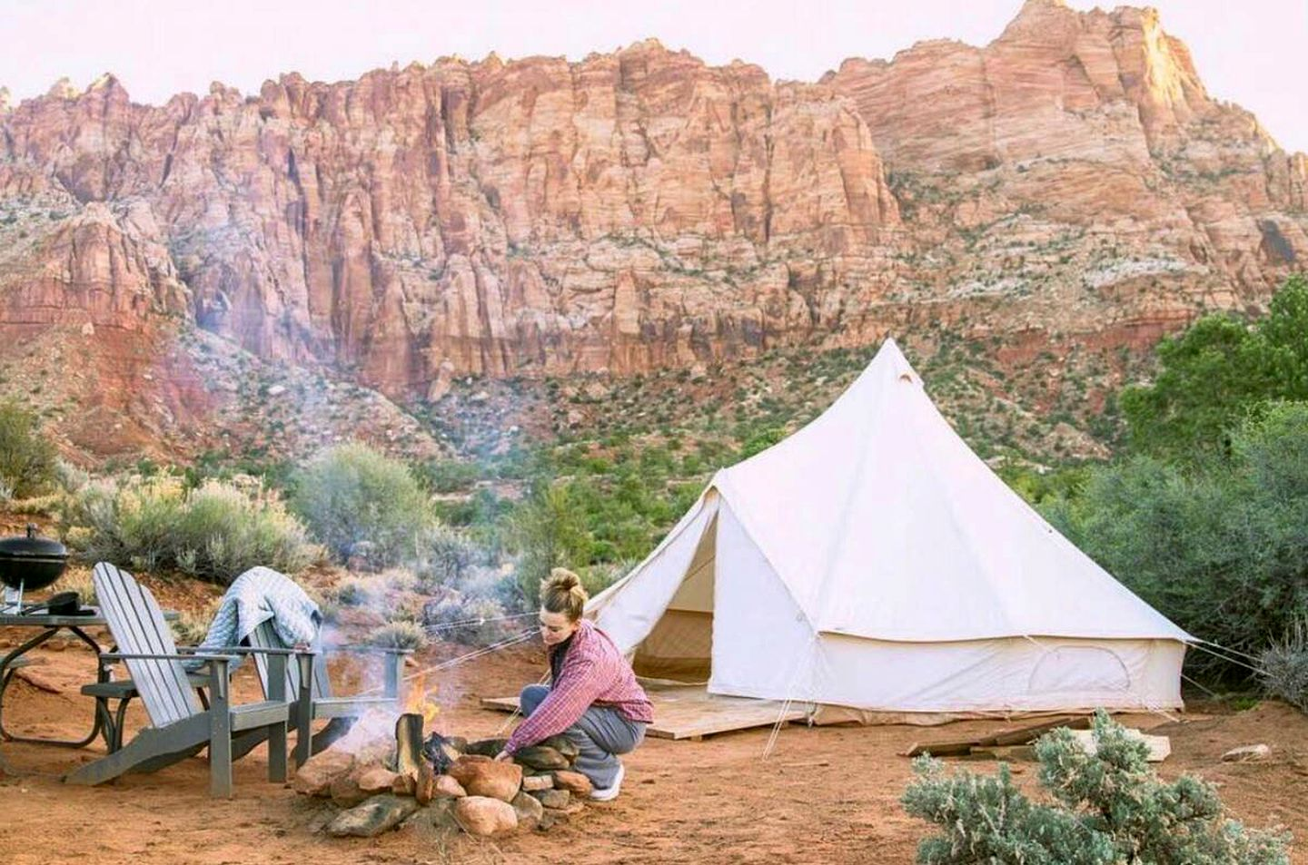 Bell tent rental for glamping in Arizona