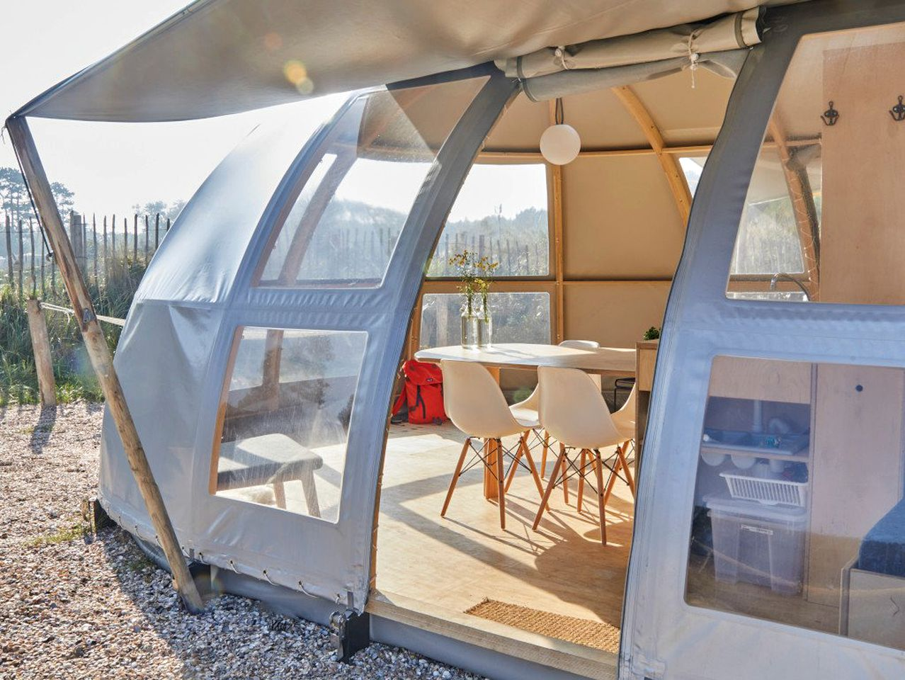 Glamping tent for a holiday in France
