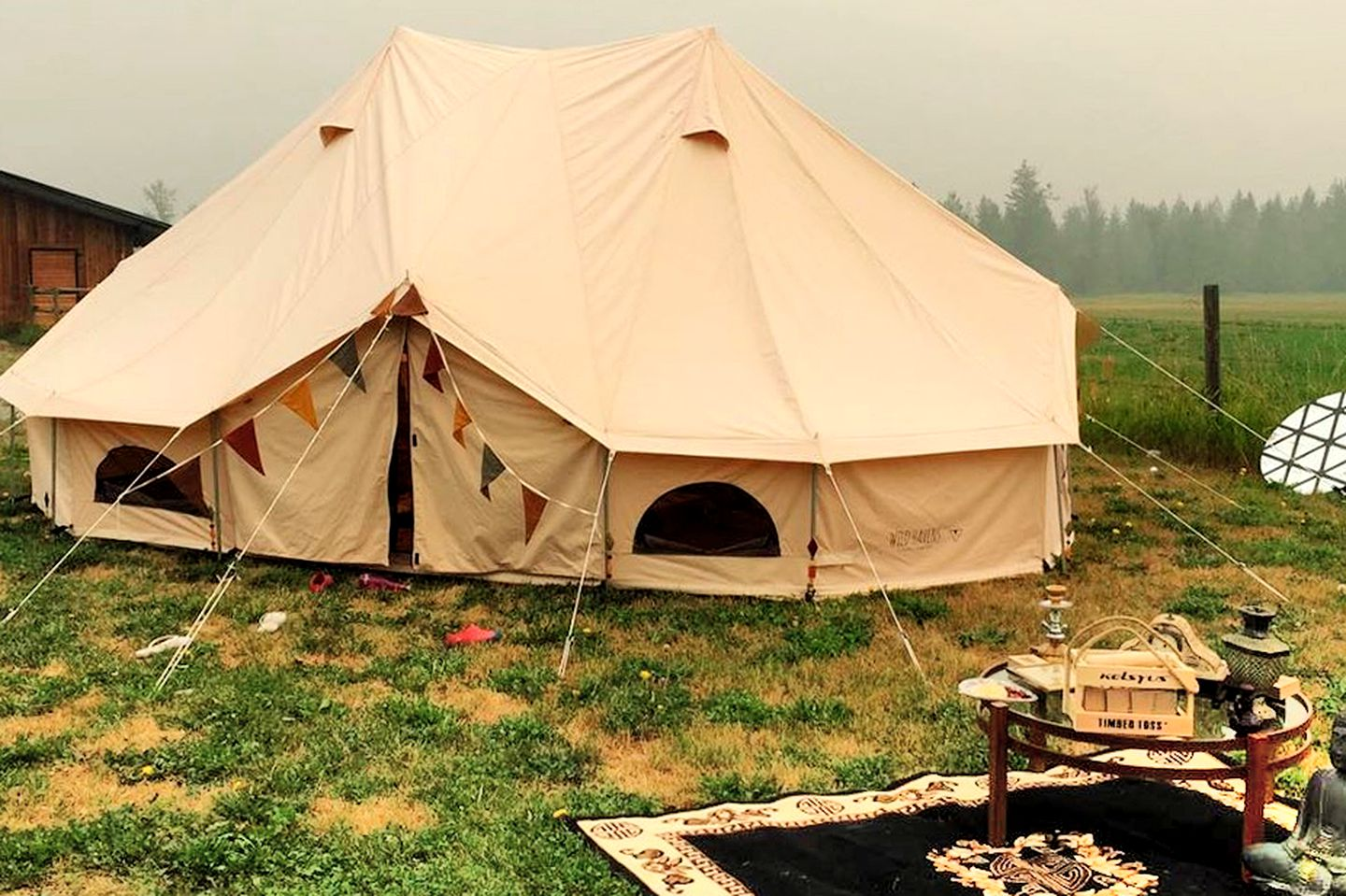 This pop-up bell tent is great for glamping in British Columbia