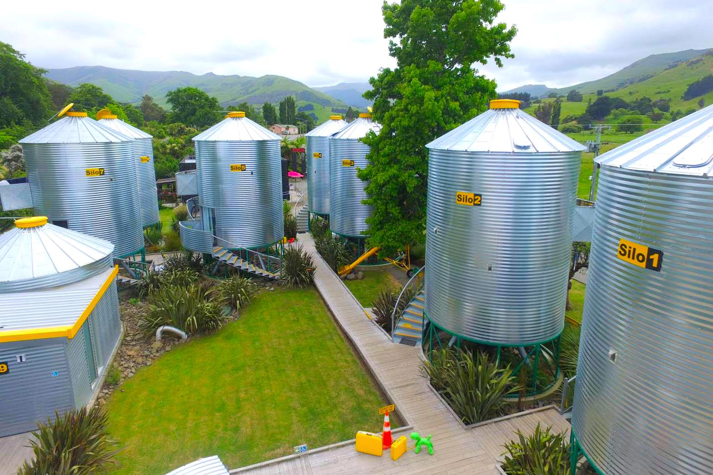 Truly unique silo accommodation that's ideal for glamping near Christchurch