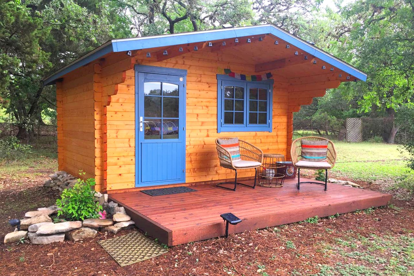Texas cabin rental that's perfect for a Hill Country getaway