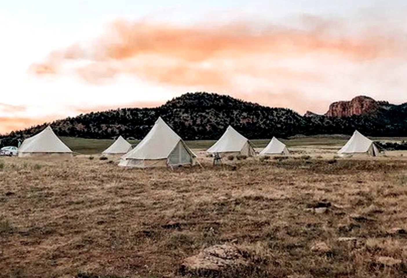 Bell tent rental for glamping near the Grand Canyon