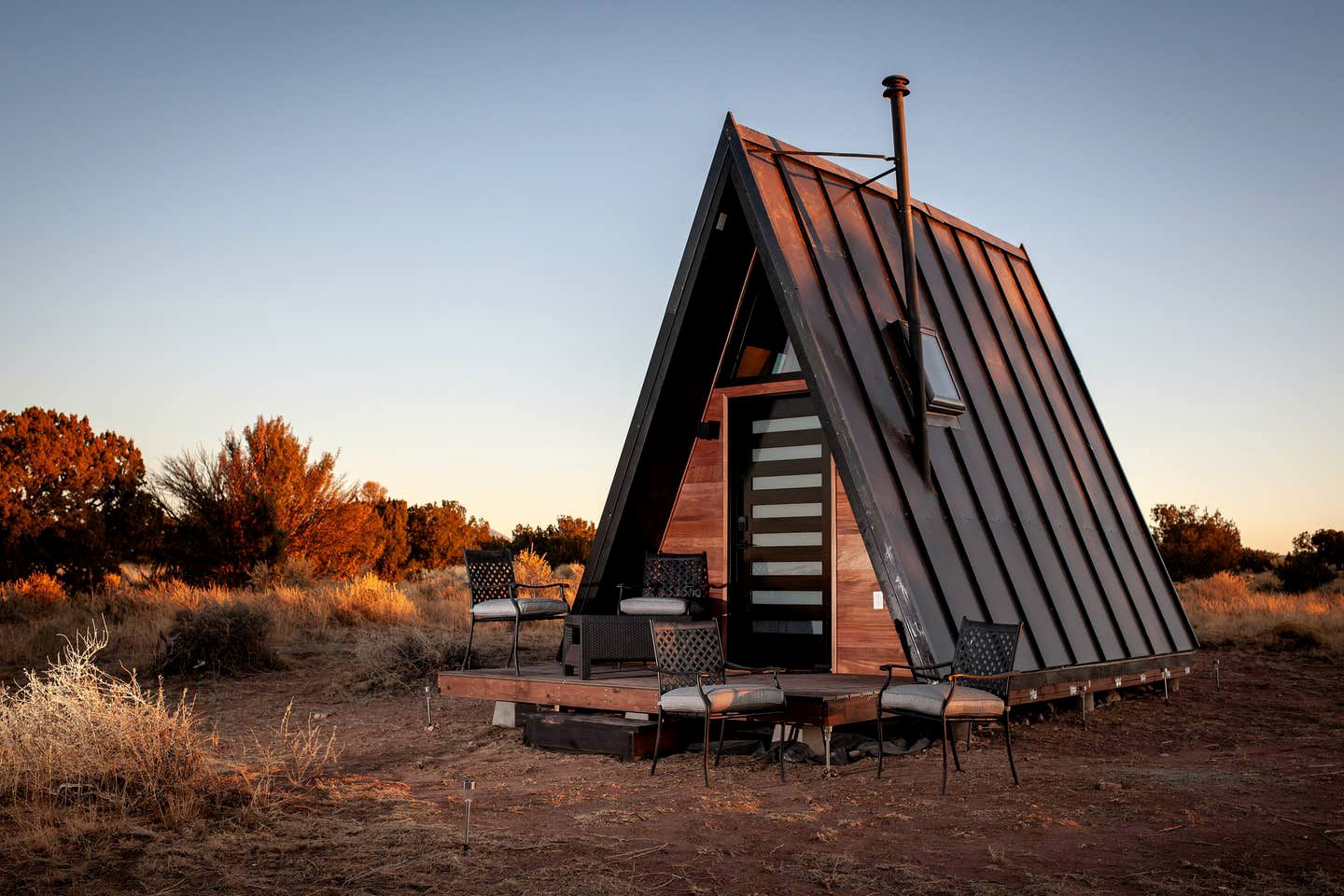 Go glamping near the Grand Canyon in this A-frame Williams accommodation.