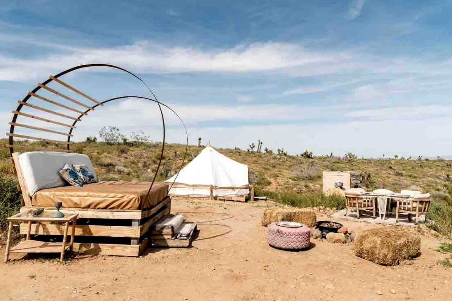 Bell tent rental that's ideal to go glamping in California