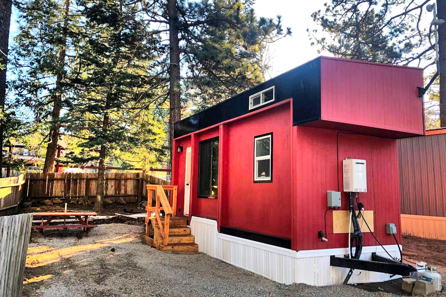 This modern Mt Laguna tiny house is perfect for romantic weekend getaways near San Diego