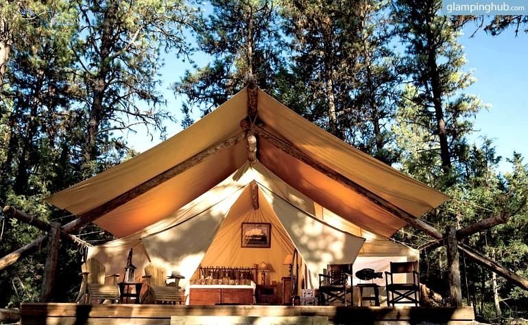 & Luxury safari tents Montana | Luxury glamping resort Montana