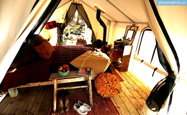 Fully Furnished Glamping Tents in the Adirondacks, New York