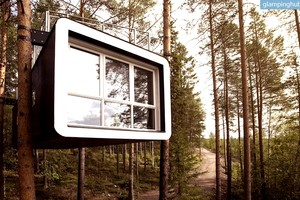 Design Treehouses in Forest Area Near Harads, Sweden