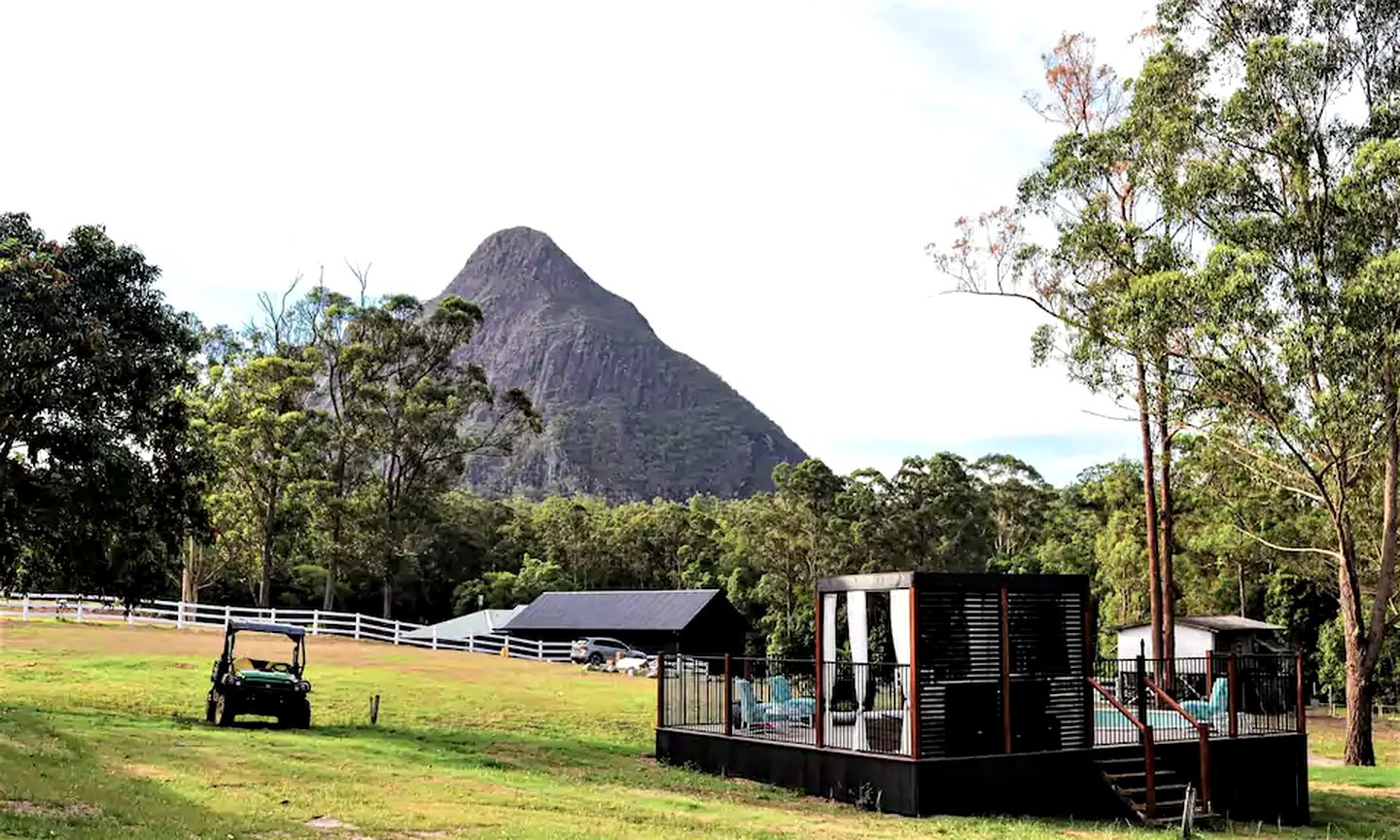 This lovingly restored Sunshine Coast holiday home is perfect for glamping in Queensland.
