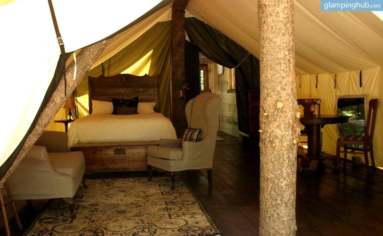 Secluded Glamping Canvas Tent In Narrowsburg New York