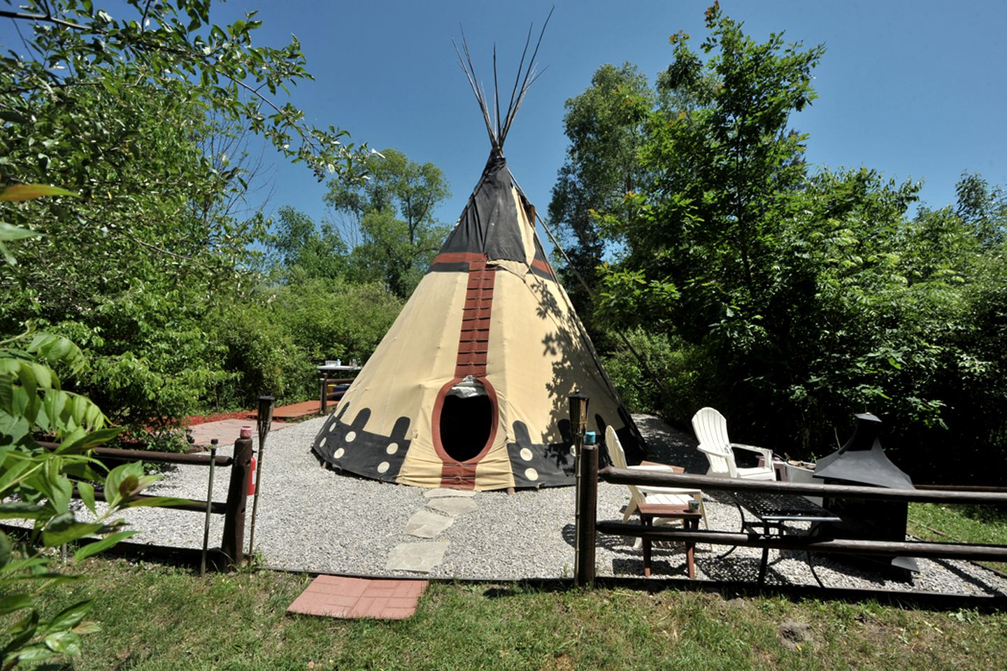 Luxury tipi and camper rental: Michigan beach vacation rentals