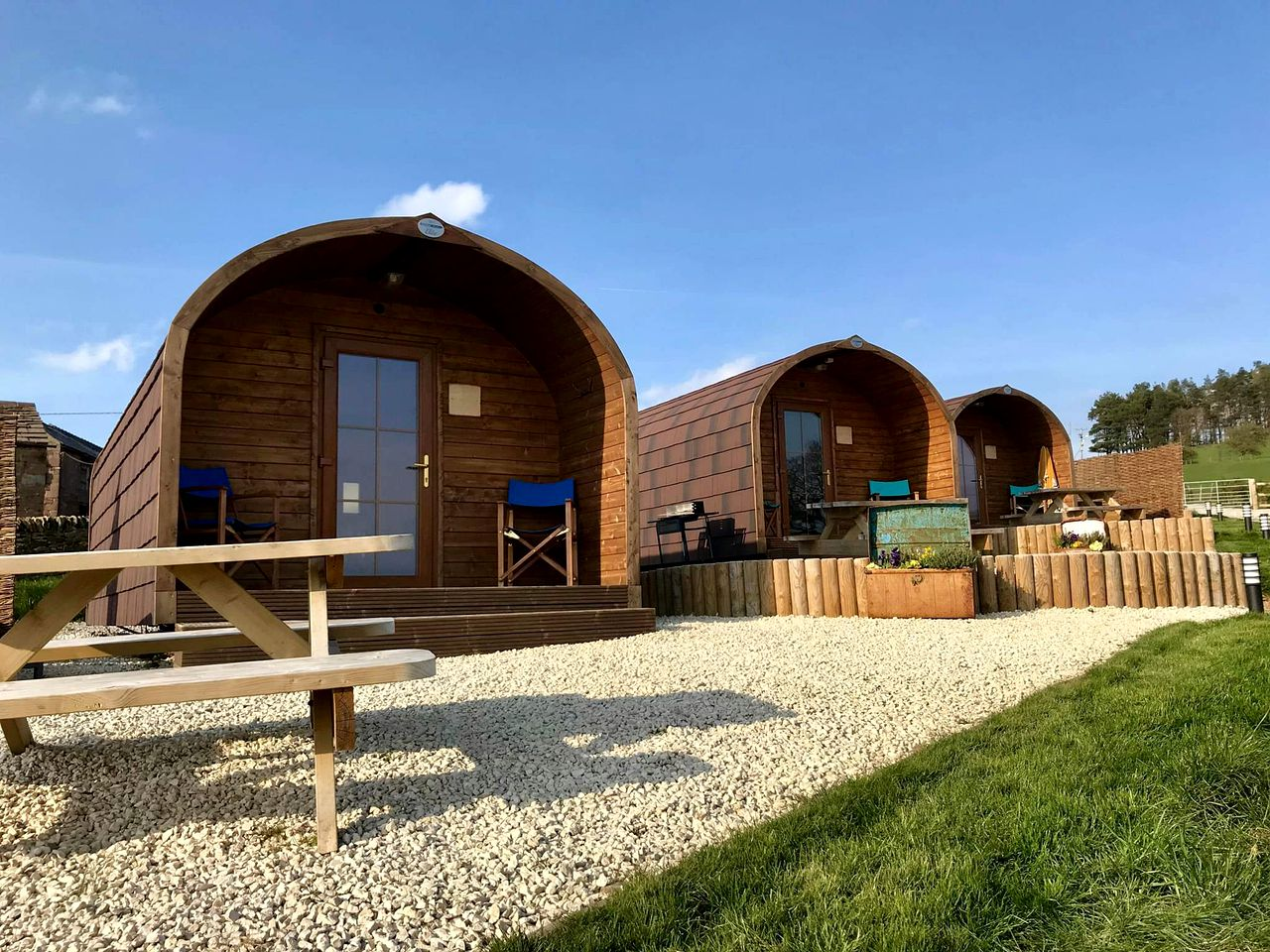 Glamping pods with hot tub near Cheshire, England