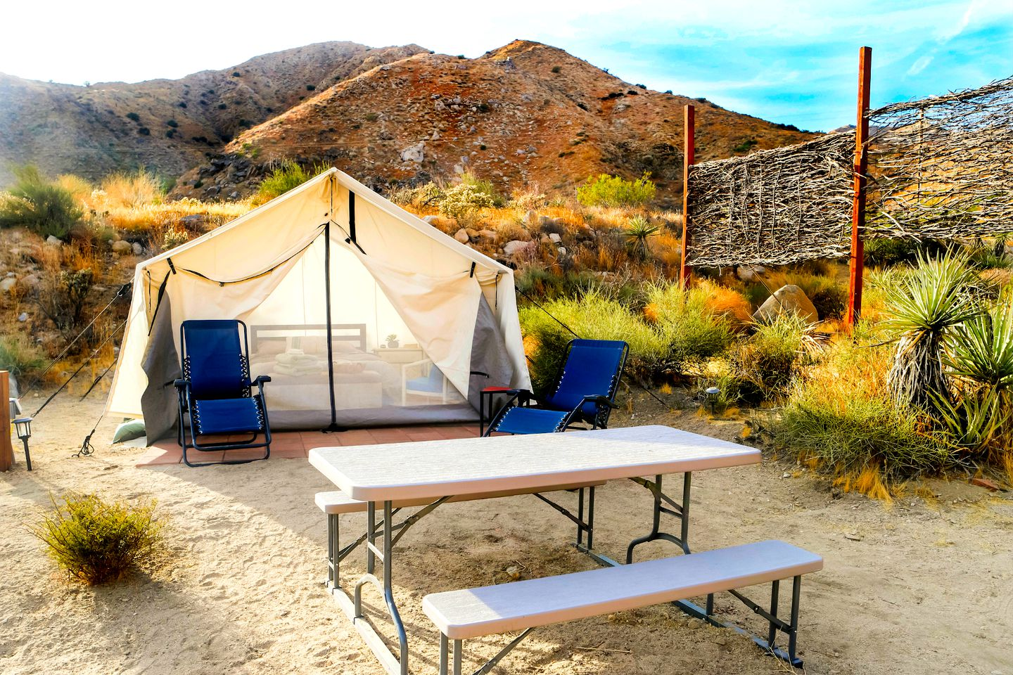 This Morongo Valley rental is great for luxury camping in California