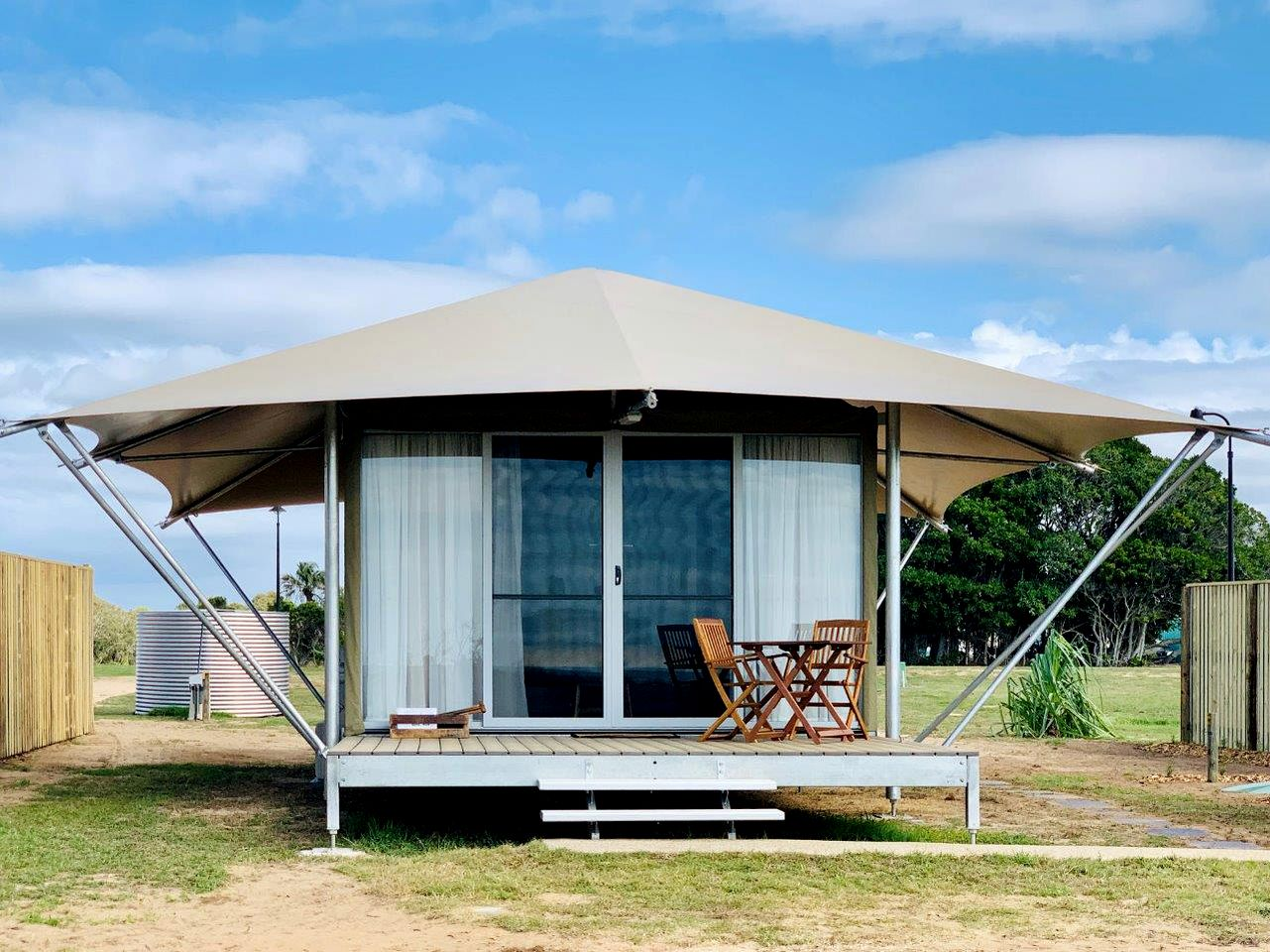 This Rules Beach accommodation is ideal for glamping in Queensland