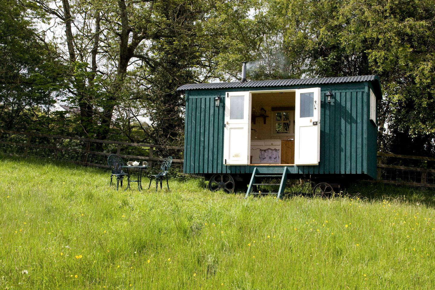 This shepherds hut is perfect for glamping near Wrexham