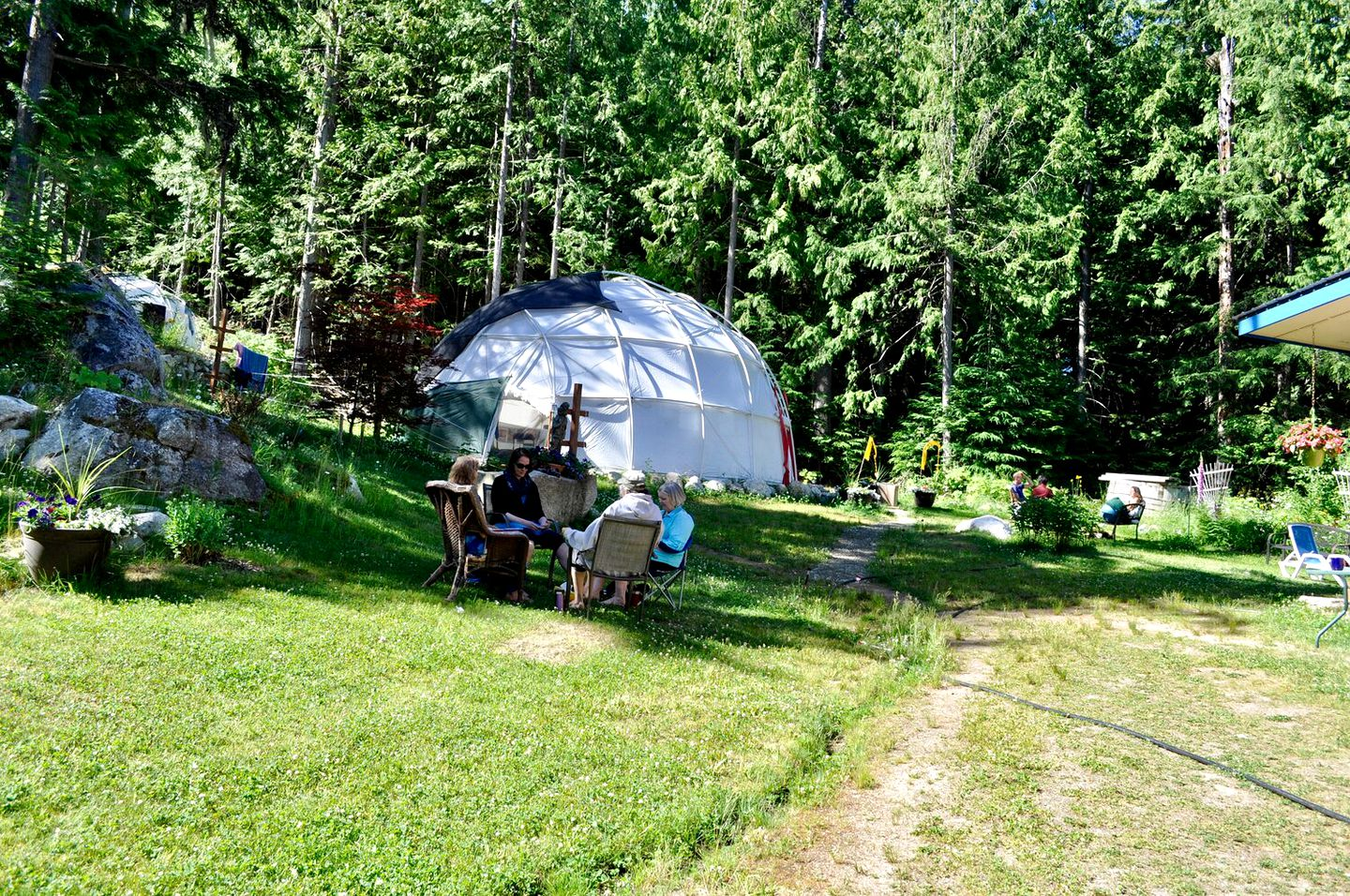 This dome rental is ideal for glamping in British Columbia