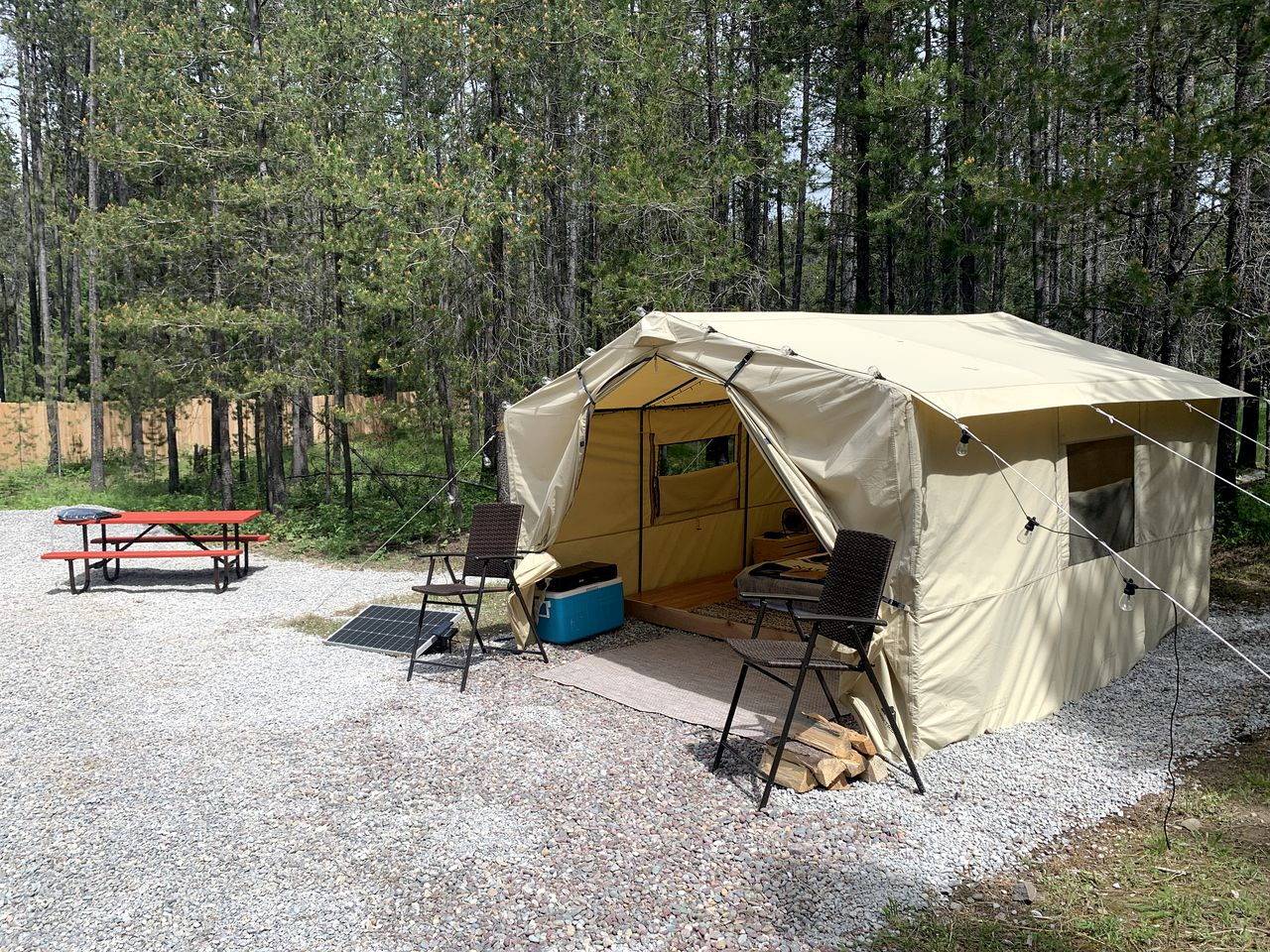This tent rental is perfect for glamping near Glacier National Park