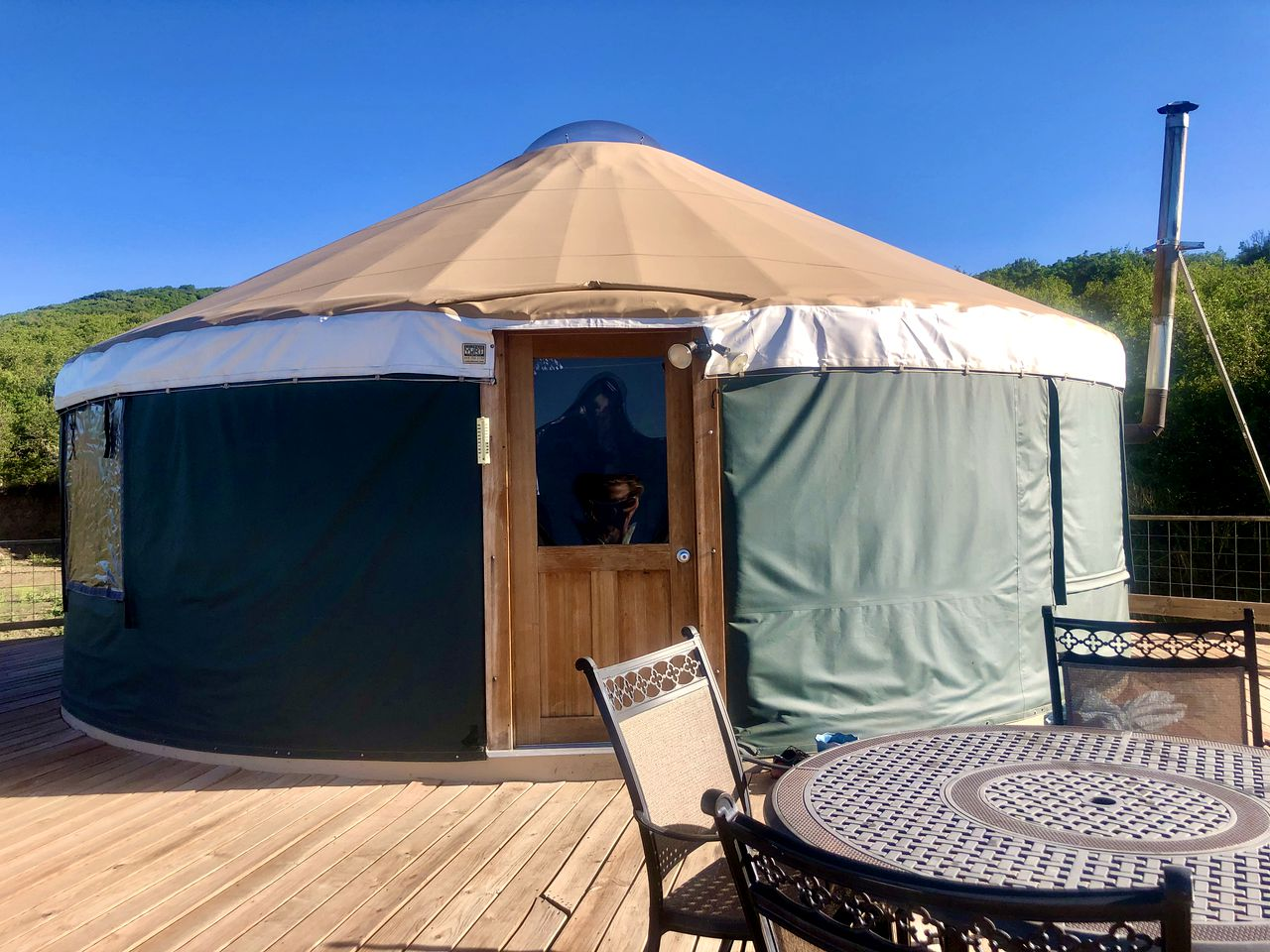 This yurt rental is ideal for a couple of guests to go glamping in Colorado