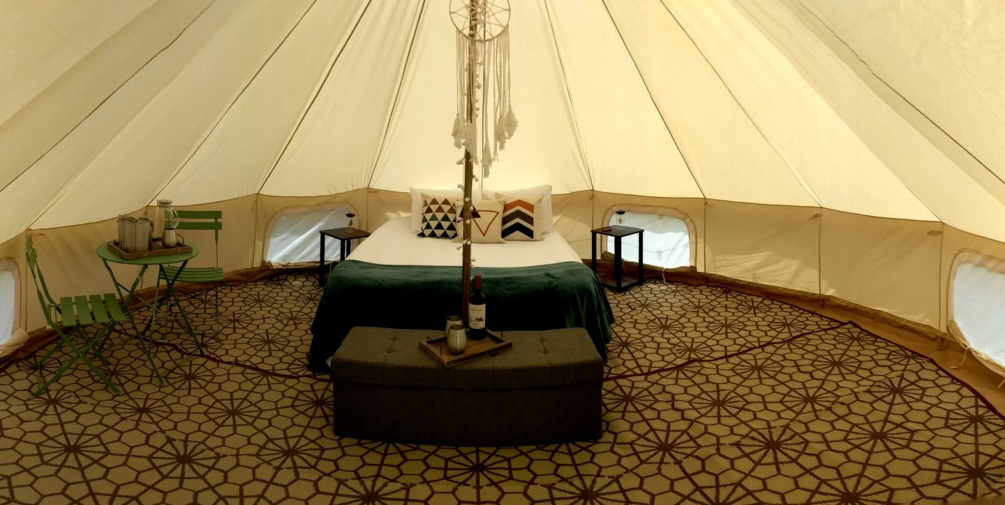 Pop-up glamping tent rental for vacations in the Southeast