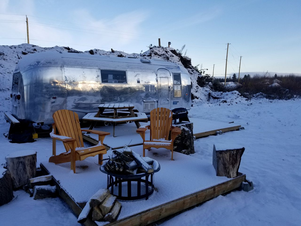 Airstream rental for glamping in Ontario