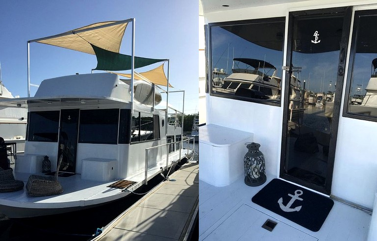 Astounding Luxury Houseboat Rental At Secluded Marina In The Heart Of Key Largo Florida Download Free Architecture Designs Parabritishbridgeorg