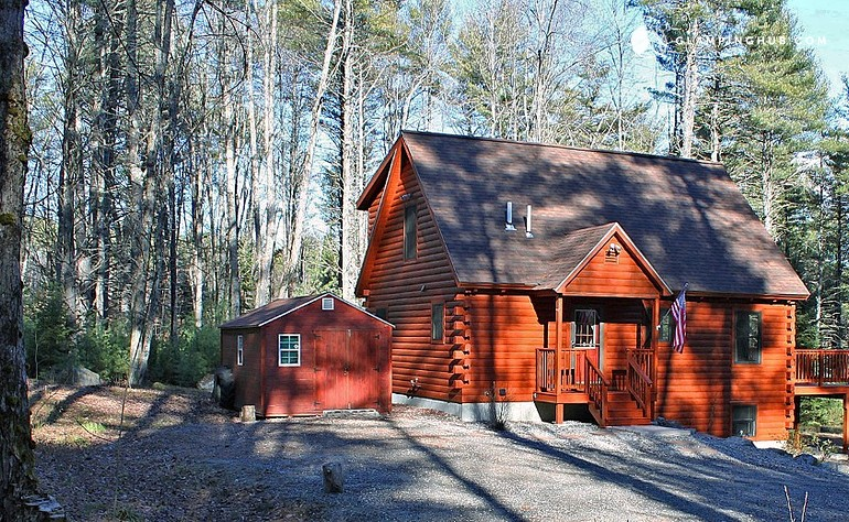 maine lake coast winter sebago coastal southern cabins in rustic cabin homes rental cottage vacation rentals