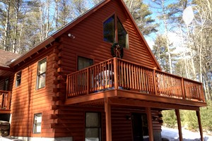 lake rentals sebago hqdefault watch cabins youtube cabin