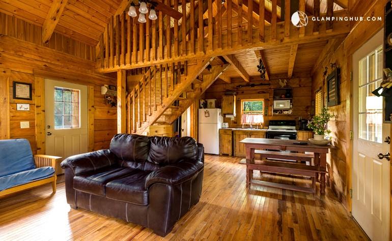 rustic pet friendly cabin near hocking hills in logan ohio rh glampinghub com