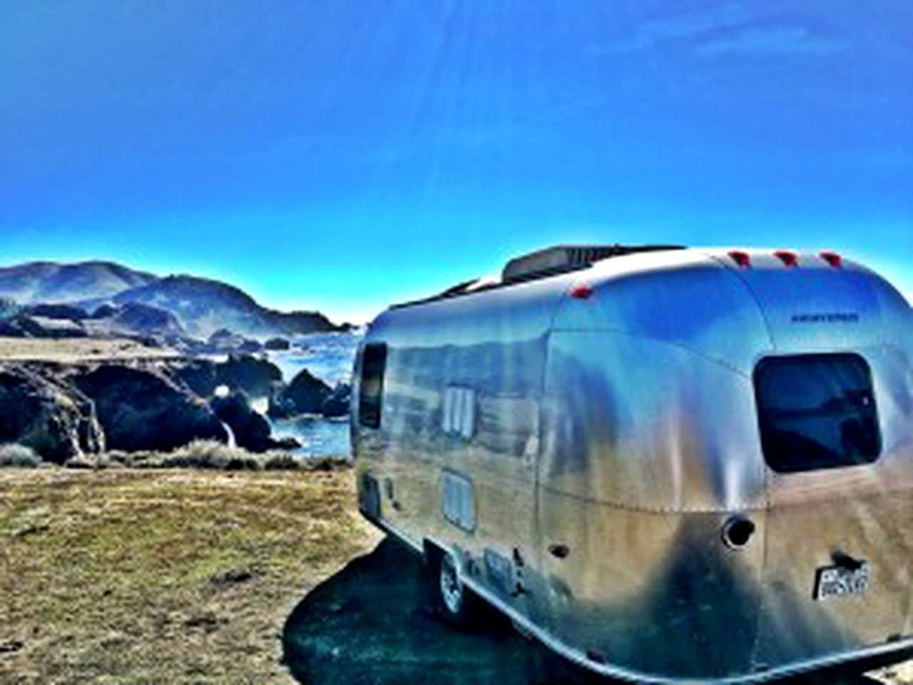 Exterior of Airstream rental, Colorado