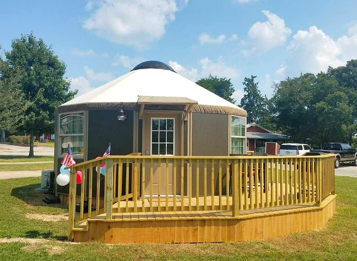Rustic Glamping Yurt with Nature Trails near Dallas in Canton, Texas