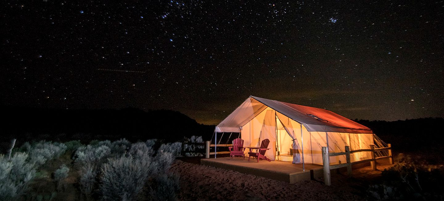 Glamping under the stars near the Grand Staircase-Escalante National Monument
