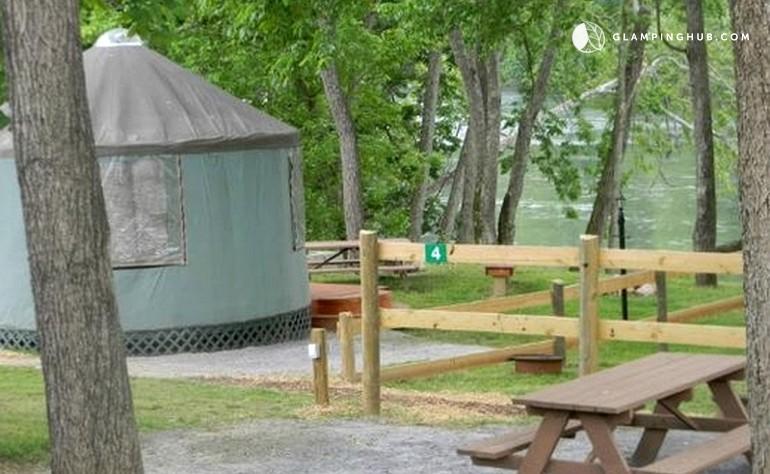Waterfront Yurt Near Washington D C Glamping Hub