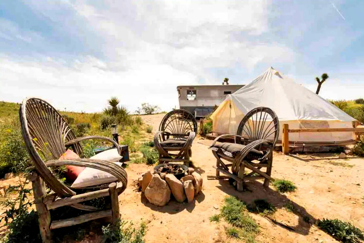 This Yucca Valley accommodation is perfect for Mojave Desert glamping