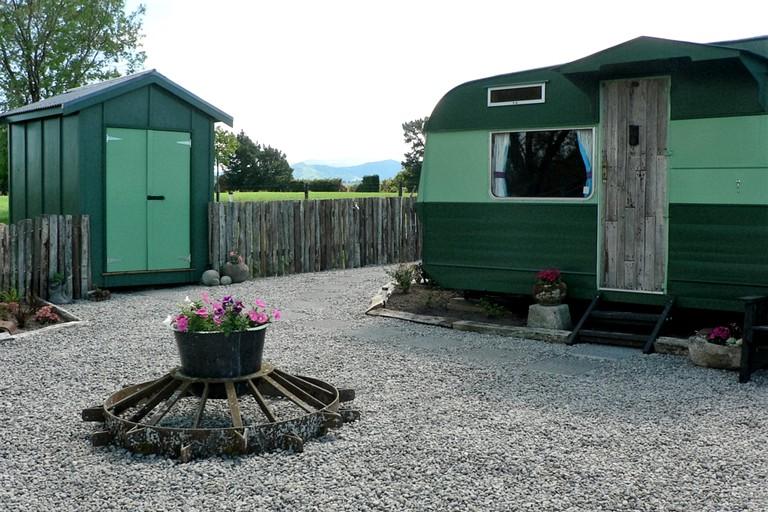Off-The-Grid Caravan Rental on Family Farm in Wellington Region, North  Island