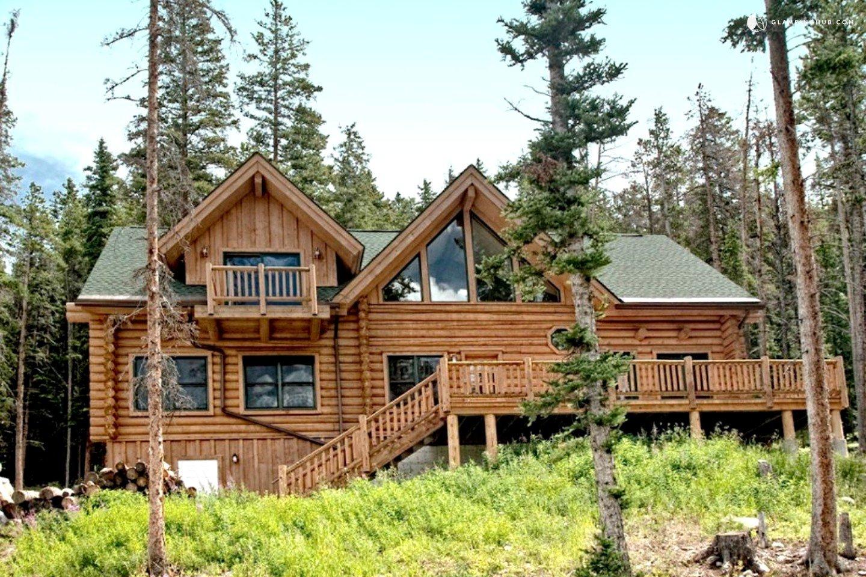 Luxury log cabin in breckenridge colorado for Vacation log homes