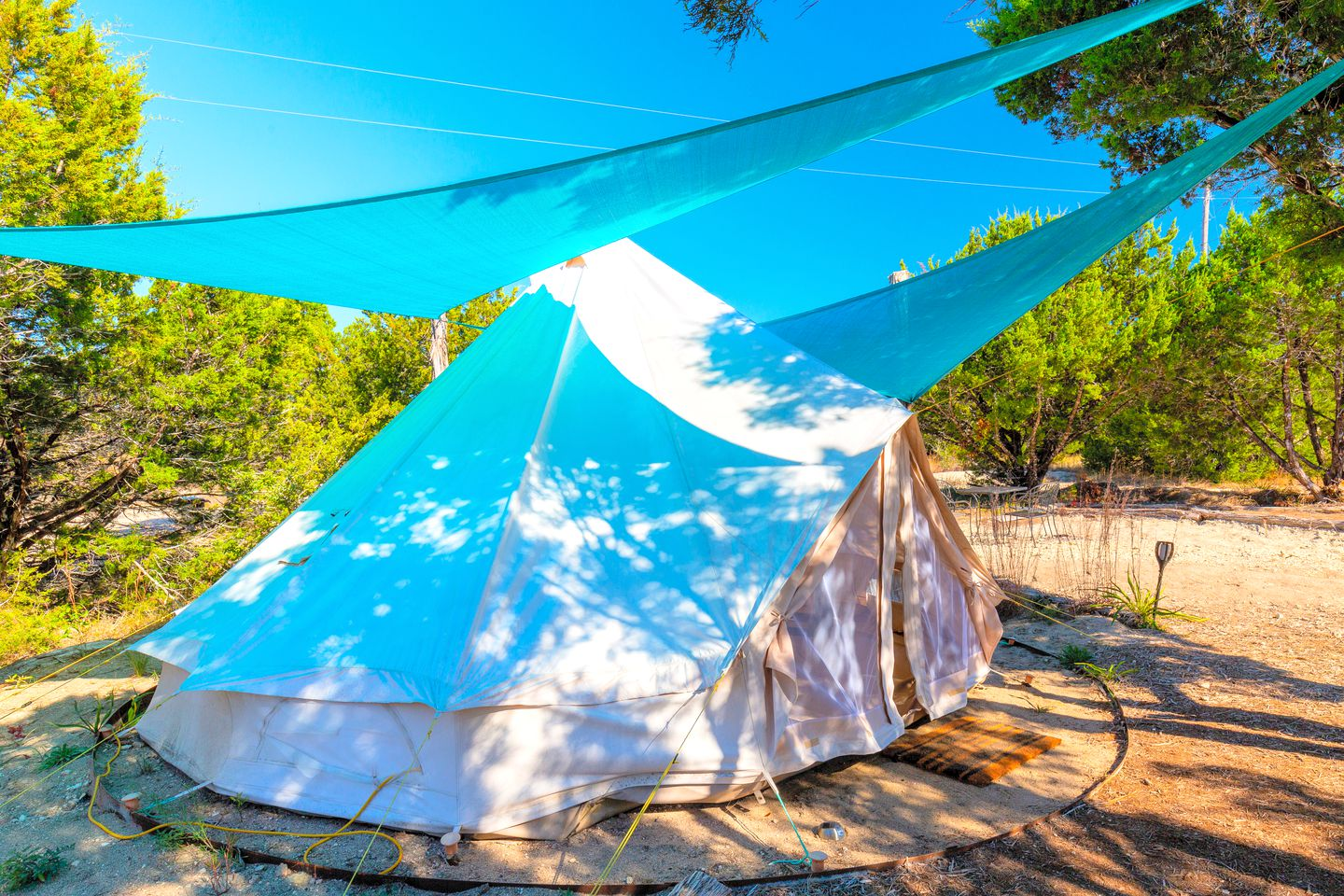 Johnson City accommodation perfect for bell tent glamping near Austin, TX.