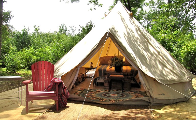 & Bell Tent Rental near State Forest Massachusetts